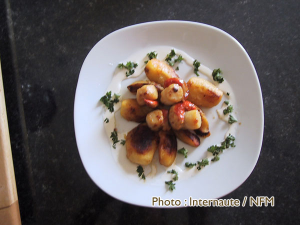 Recette Coquille Saint-Jacques marmelade pommes persil