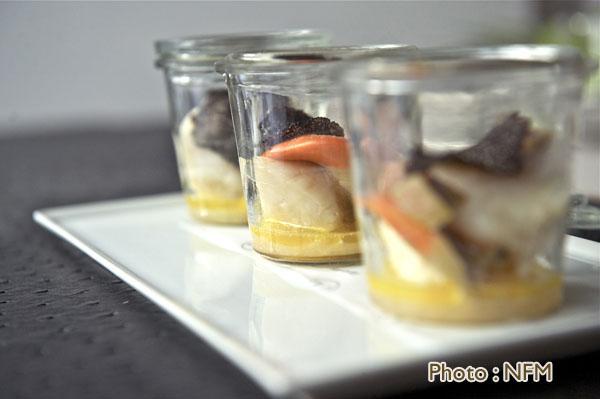 Recette Coquille Saint-Jacques en pot verre truffe foie gras