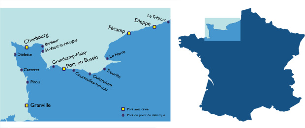 Carte Littoral normand