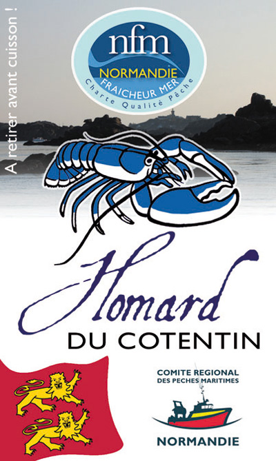 Pin's Homard Cotentin Recto