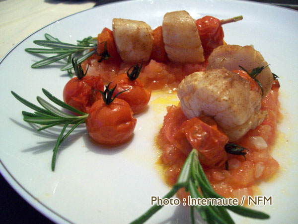 Recette Coquille Saint-Jacques brochettes romarin